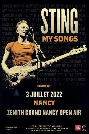 Sting affiche concert
