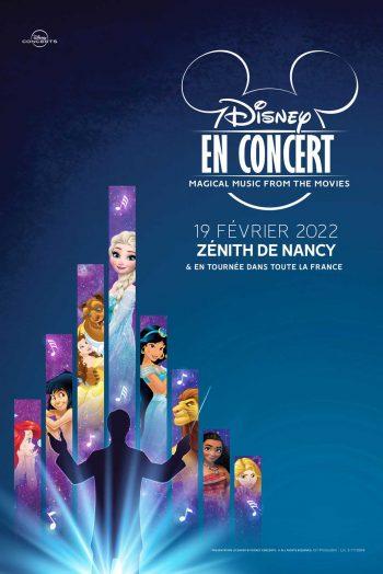 Affiche Disney en concert tournée zénith du grand nancy