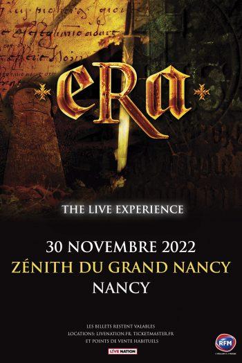 Affiche Era spectacle concert visuel zénith de nancy