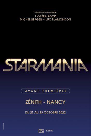 Starmania Zénith du Grand Nancy concert spectacle représentation affiche visuel